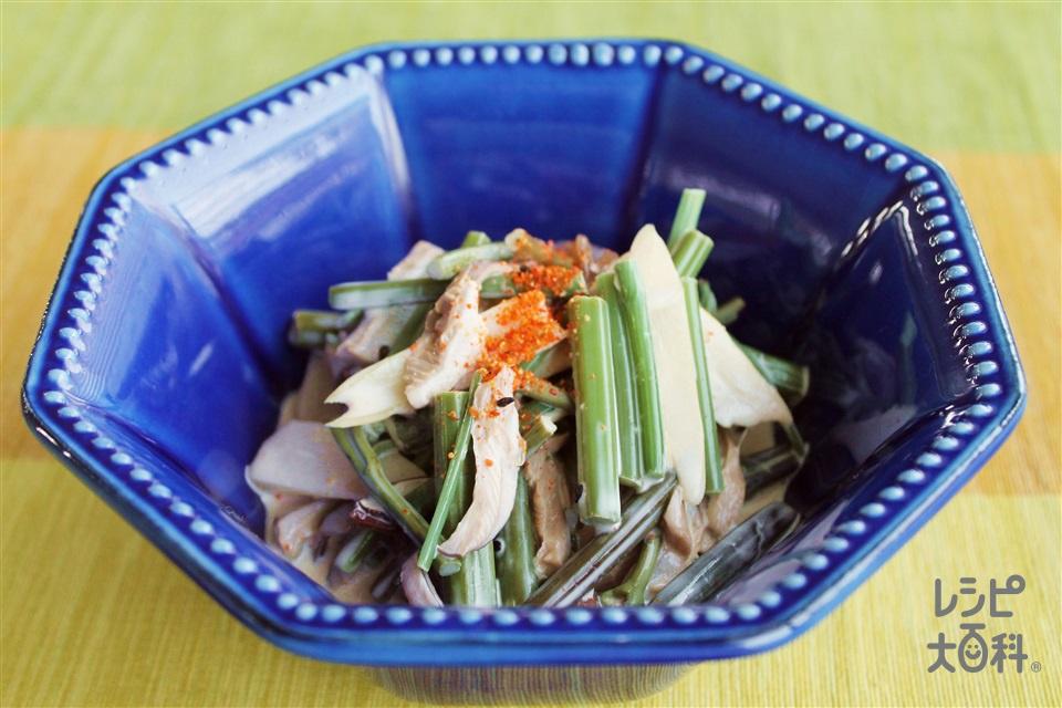 山菜水煮のマヨネーズ和え(山菜の水煮を使ったレシピ)