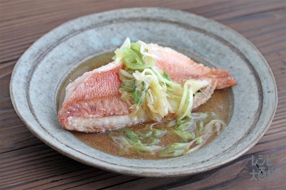 赤魚の煮付け(赤魚+長ねぎを使ったレシピ)