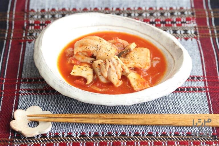 鶏肉の和風トマト煮