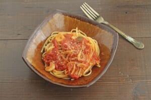 トマトすき焼き風鍋の〆