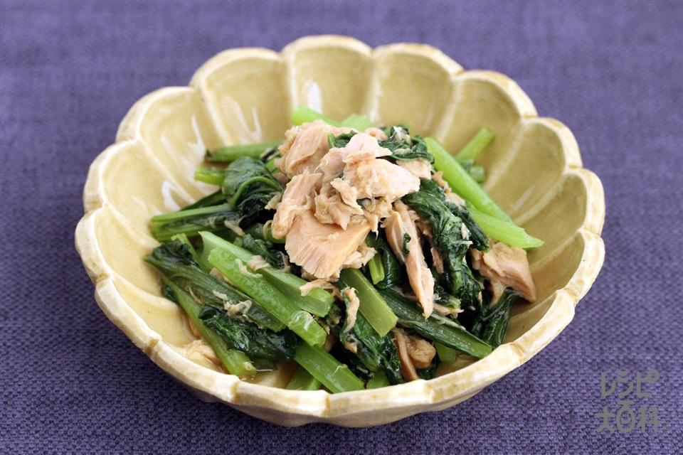 青菜とツナの炒めもの(小松菜+ツナ缶(ノンオイル)を使ったレシピ)