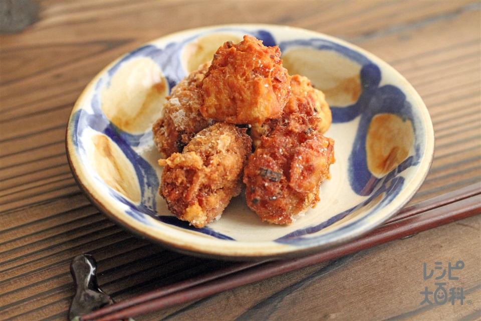 ツナのから揚げ(ツナ缶(ノンオイル)+溶き卵を使ったレシピ)