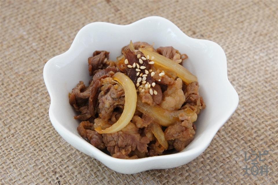 牛肉とたっぷり玉ねぎの生姜焼き(牛バラ薄切り肉+玉ねぎを使ったレシピ)