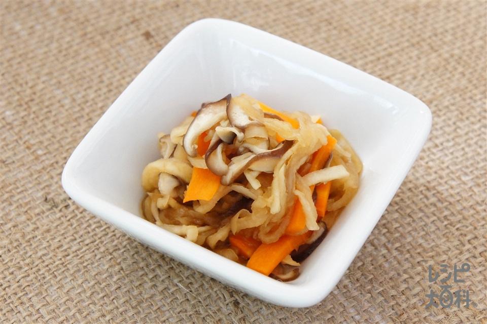 切干し大根の煮物(切り干し大根+しいたけを使ったレシピ)
