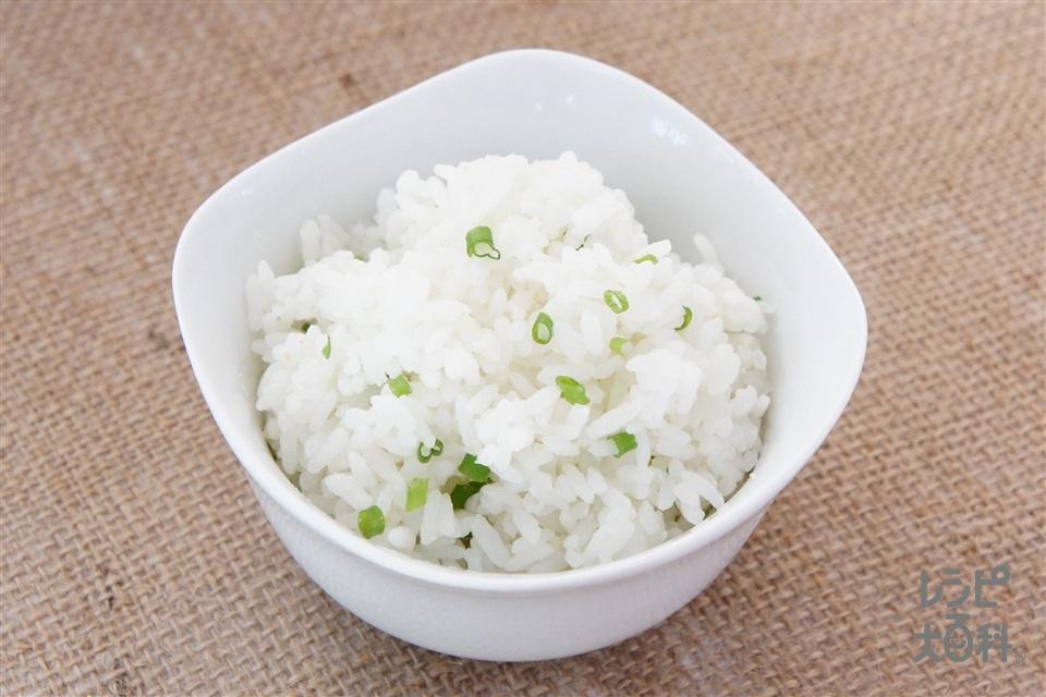 ねぎごはん(ご飯+小ねぎを使ったレシピ)