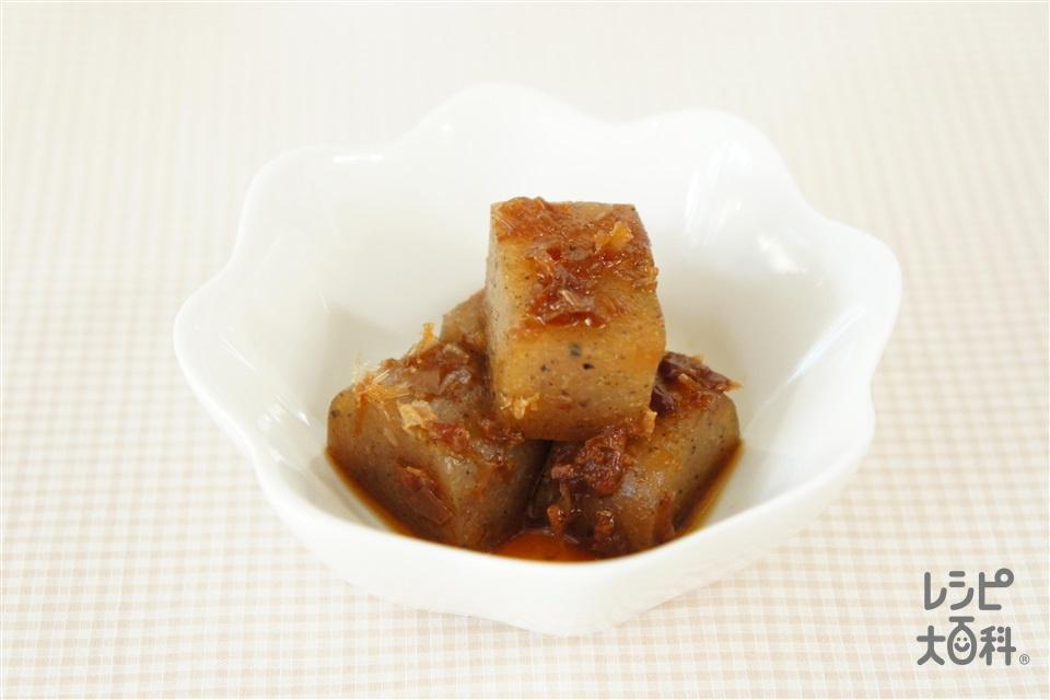 こんにゃくとおかかの煮物(こんにゃく+削り節を使ったレシピ)