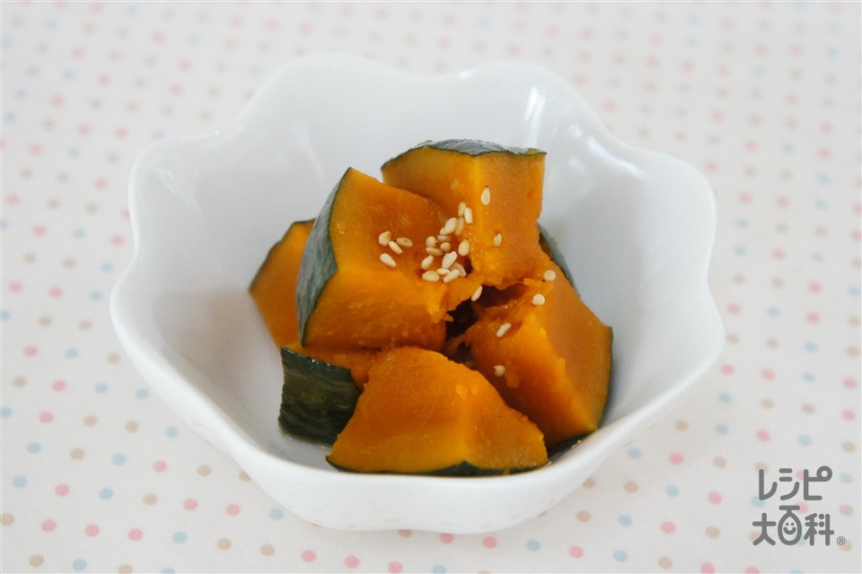 かぼちゃの香ばしバター和え(かぼちゃ+いり白ごまを使ったレシピ)