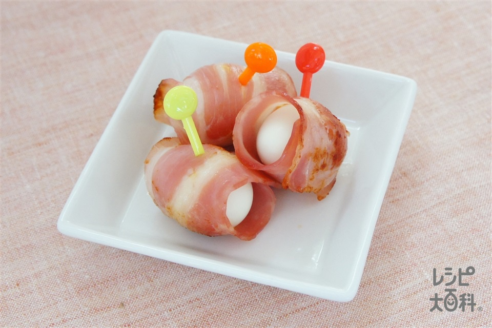 うずらの卵のベーコン巻(うずらの卵の水煮+ベーコンを使ったレシピ)