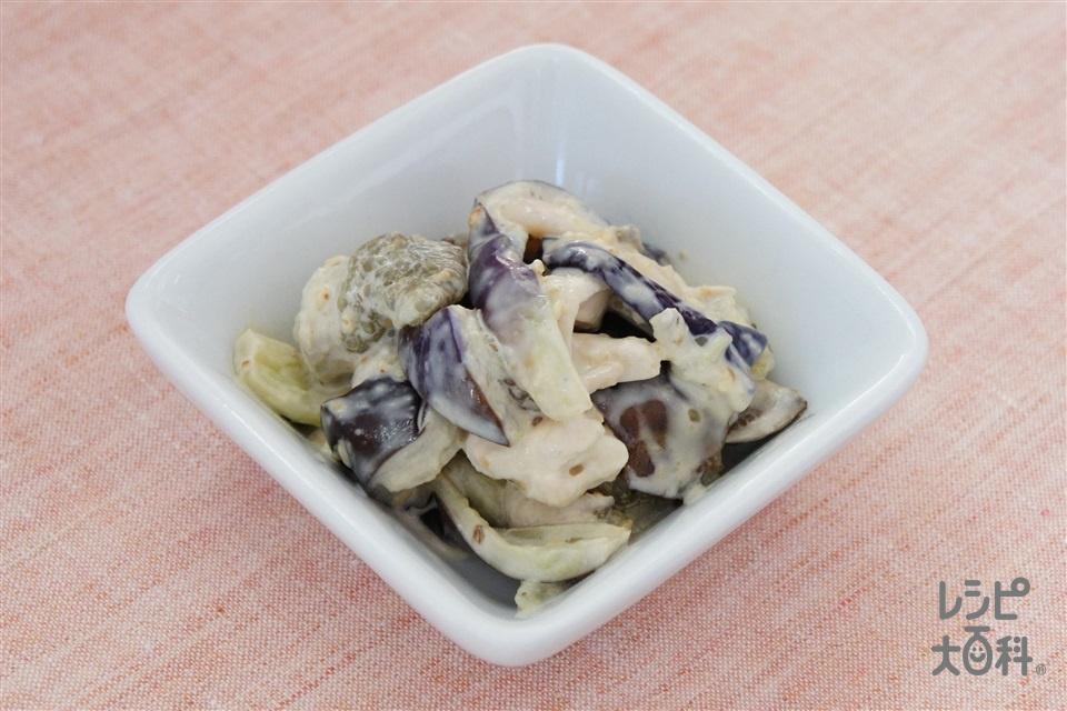 茄子とささみのごま味噌和え(なす+鶏ささ身を使ったレシピ)