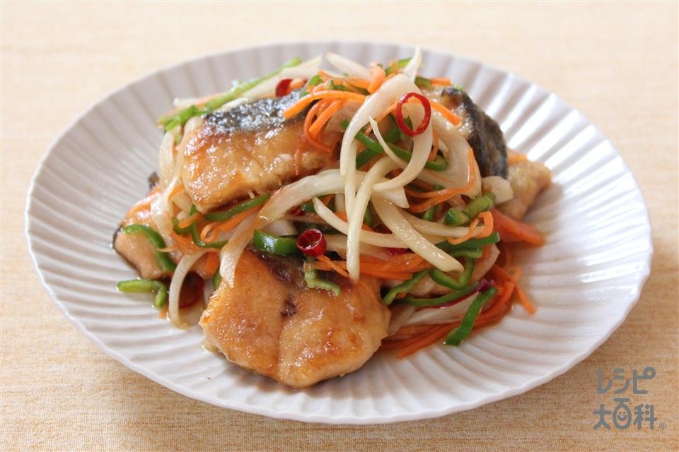 鮭の焼き漬け(生ざけ+玉ねぎ(大)を使ったレシピ)