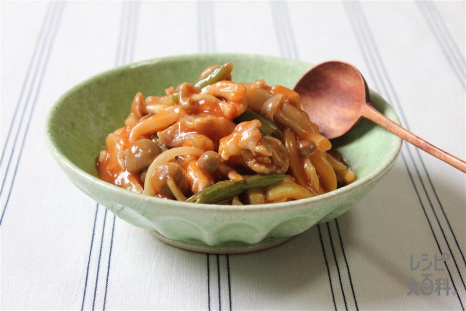 鶏肉の中華煮(鶏もも肉+玉ねぎ(大)を使ったレシピ)