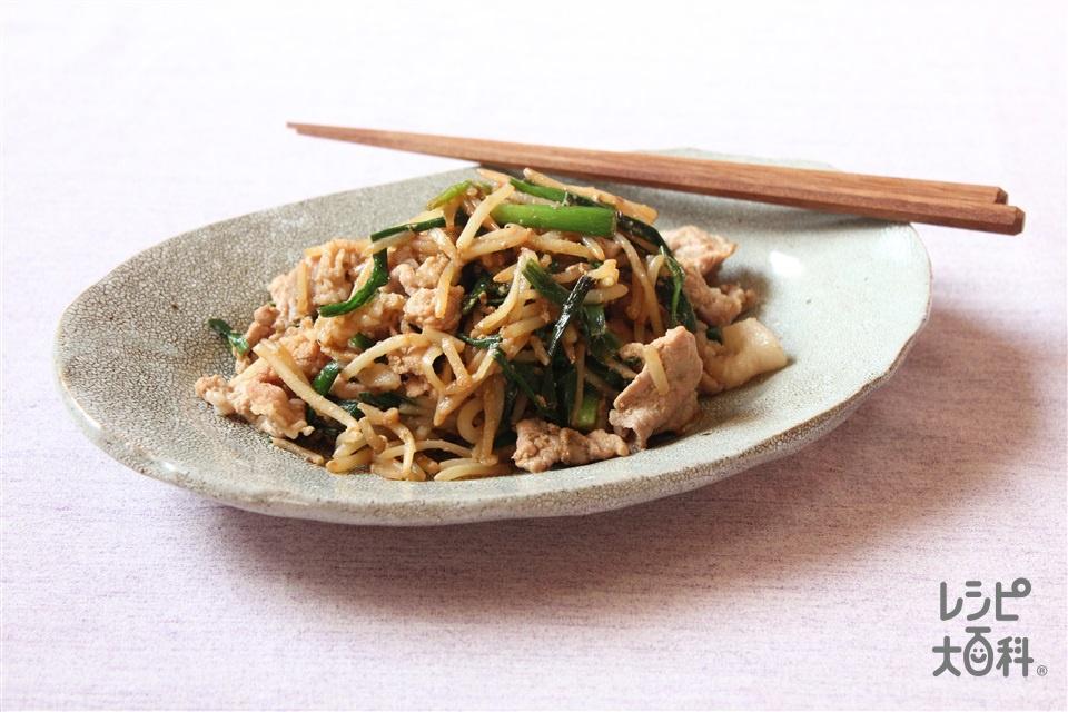 豚もやしのオイスター炒め(豚こま切れ肉+もやしを使ったレシピ)