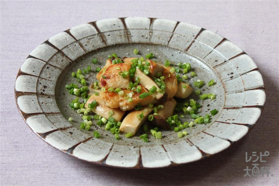 白身魚とエリンギのバターしょうゆ炒め(たら+エリンギを使ったレシピ)