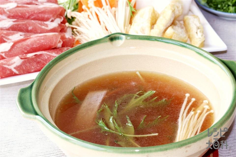 だしうまラムしゃぶ鍋(ラム肉+大根を使ったレシピ)