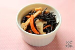 ひじき煮(油揚げ+にんじんを使ったレシピ)