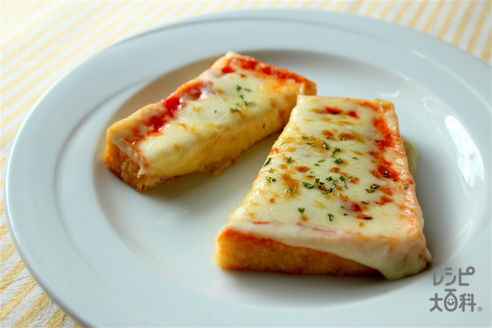 厚揚げのチーズ焼き(厚揚げ+スライスチーズ(溶けるタイプ)を使ったレシピ)