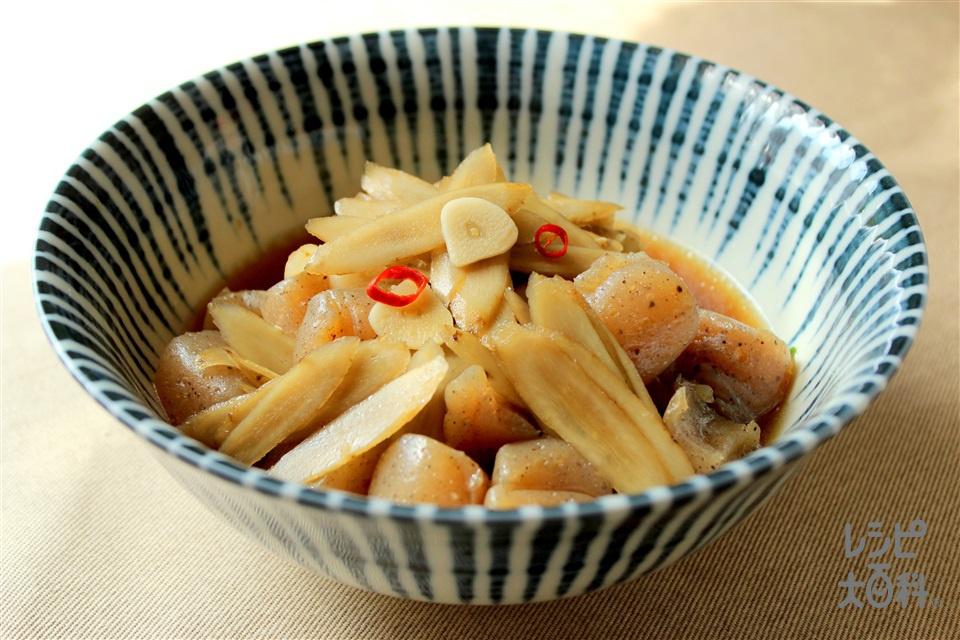 ゴボウとこんにゃくの炒め煮(ごぼう+こんにゃくを使ったレシピ)