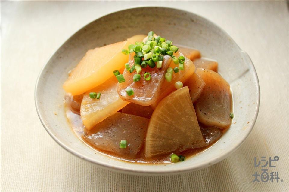 こんにゃくと大根のオイスターソース煮(大根+こんにゃくを使ったレシピ)
