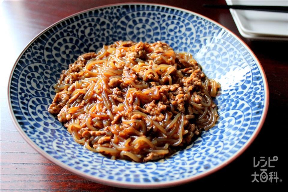 簡単麻婆しらたき(しらたき+豚ひき肉を使ったレシピ)