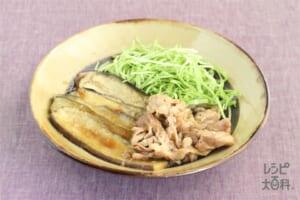 豚肉と茄子の生姜焼き