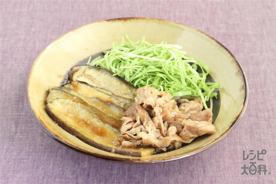 豚肉と茄子の生姜焼き(なす+キャベツのせん切りを使ったレシピ)