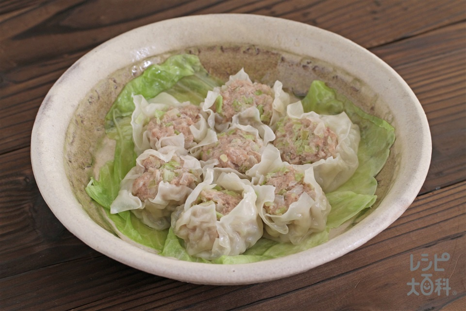 野菜たっぷりシューマイ(豚ひき肉+キャベツを使ったレシピ)