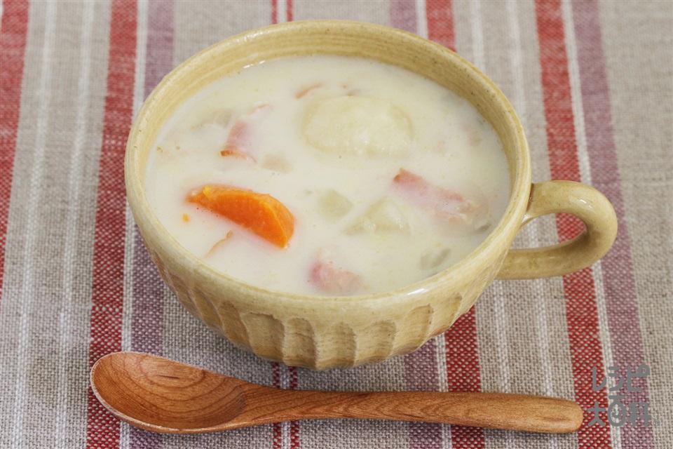 野菜たっぷりクリームシチュー(じゃがいも+牛乳を使ったレシピ)