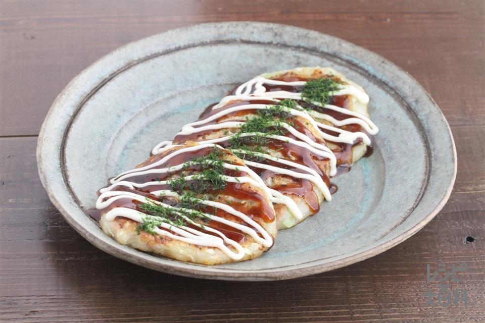 キャベツとツナのお好み焼き(キャベツ+長いもを使ったレシピ)