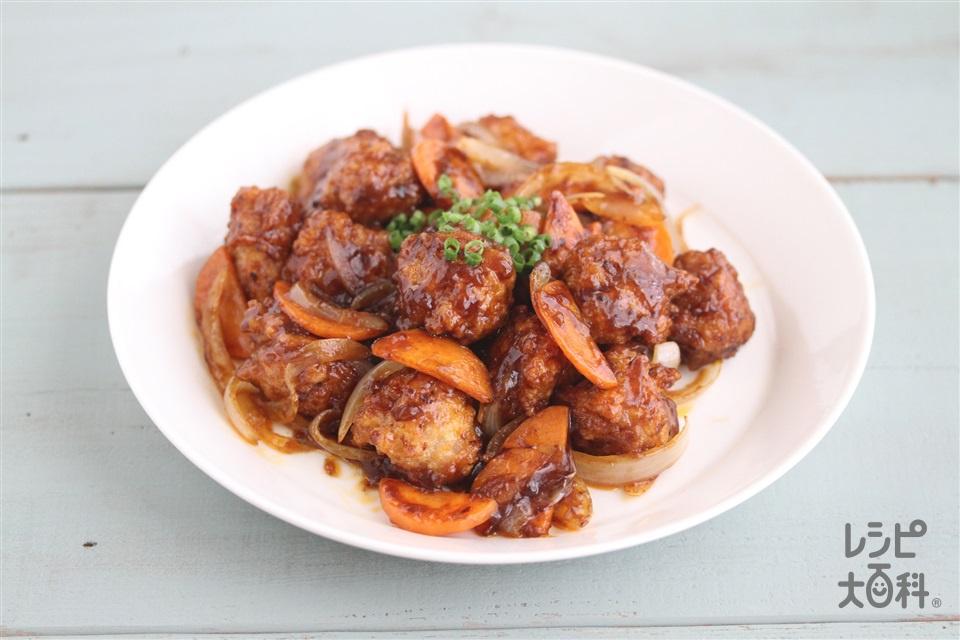 麻婆揚げ鶏だんご(鶏ひき肉+木綿豆腐を使ったレシピ)