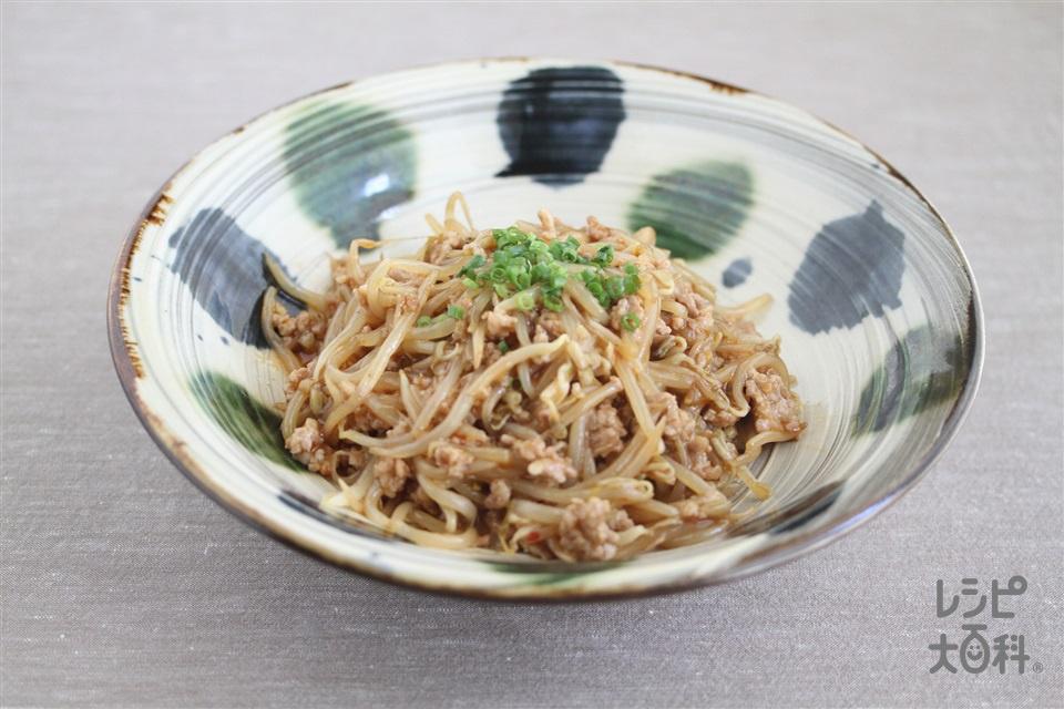 麻婆もやし(もやし+豚ひき肉を使ったレシピ)
