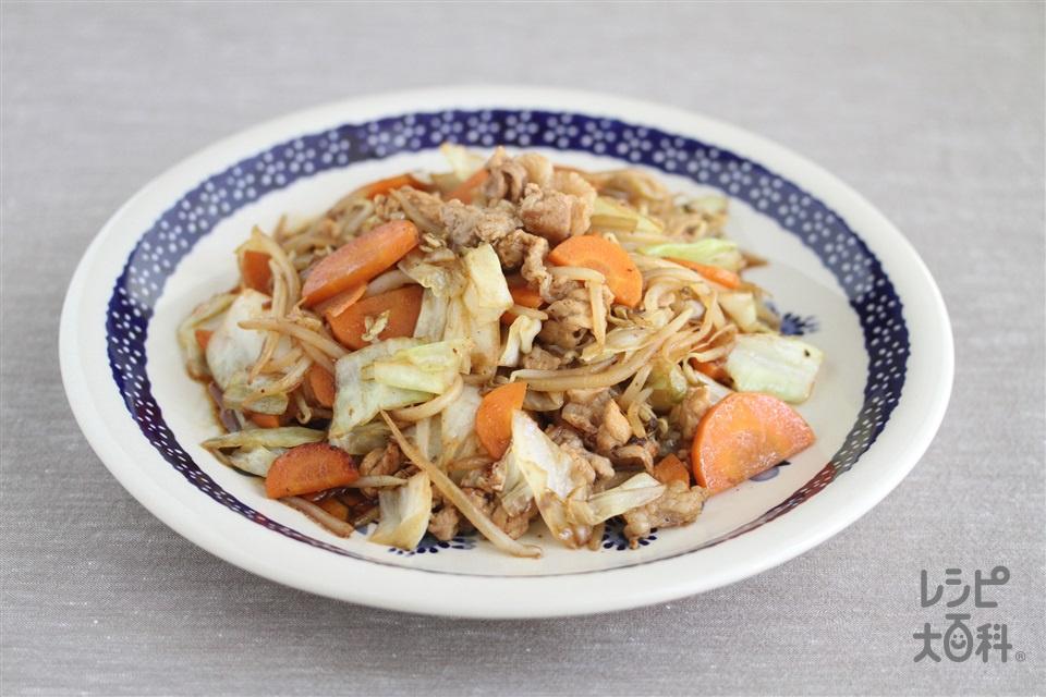 もやしとにんじんの回鍋肉(もやし+キャベツを使ったレシピ)