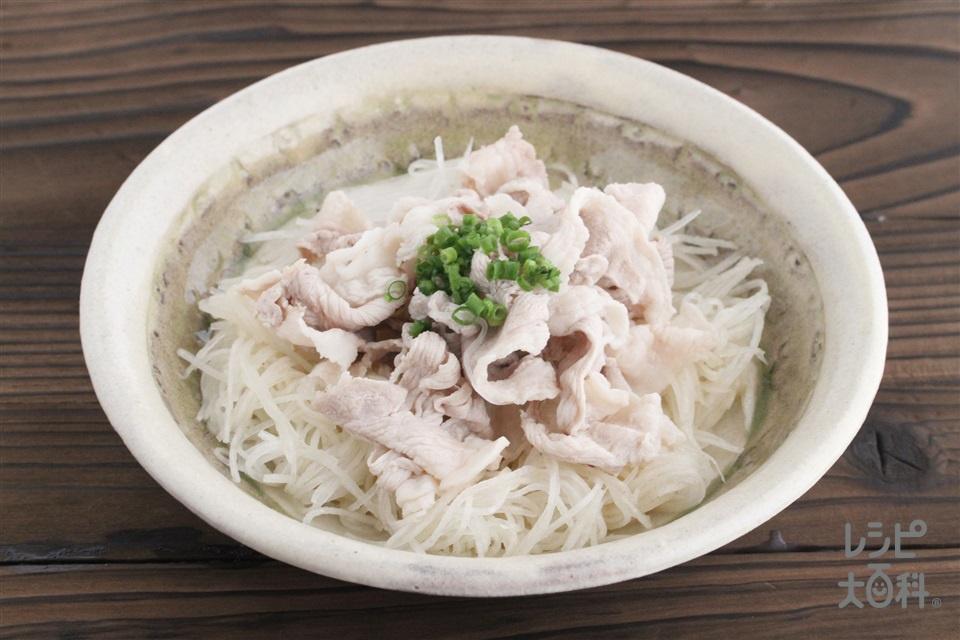 豚しゃぶ大根サラダ(豚こま切れ肉+大根を使ったレシピ)