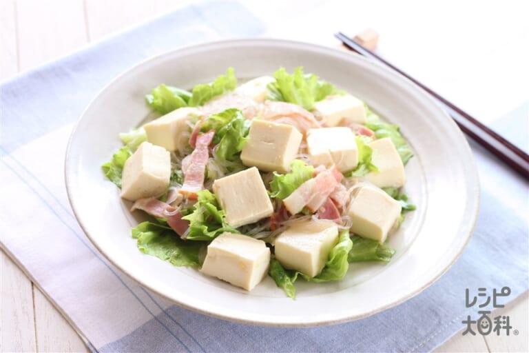 豆腐とレタスのうま塩中華いため