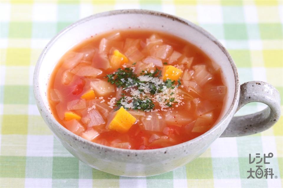ミネストローネからの取り分け離乳食(じゃがいも+ホールトマト缶を使ったレシピ)