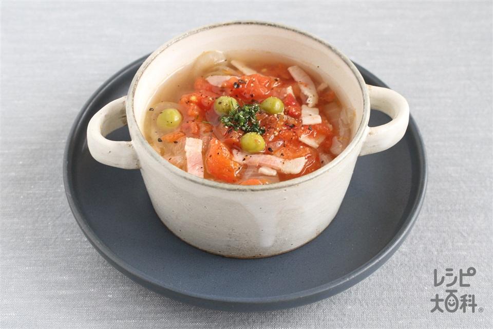 トマトと玉ねぎのスープからの取り分け離乳食(トマト+玉ねぎを使ったレシピ)