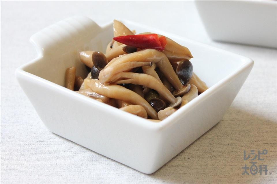 きのこのピリッとさっぱり煮(しめじ+エリンギを使ったレシピ)