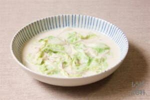 ハムと白菜のクリーム煮(白菜+牛乳を使ったレシピ)