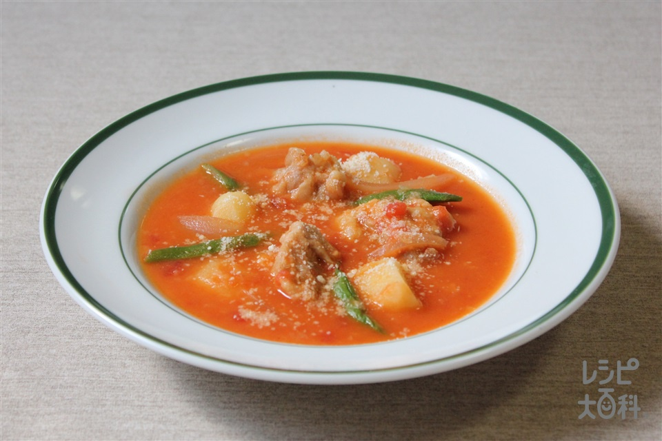 鶏のトマトシチュー(鶏もも肉+カットトマト缶を使ったレシピ)