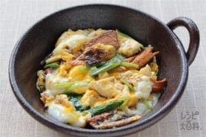 秋刀魚と豆腐の卵とじ