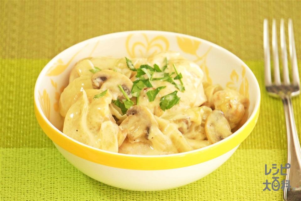 鶏のどっしりクリーミーソース(鶏もも肉+玉ねぎを使ったレシピ)