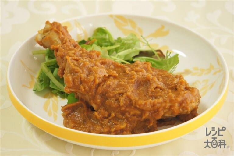 鶏骨付もも肉のデミバター煮込み