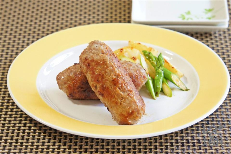 手作り中華風ソーセージ(豚ひき肉+じゃがいもを使ったレシピ)