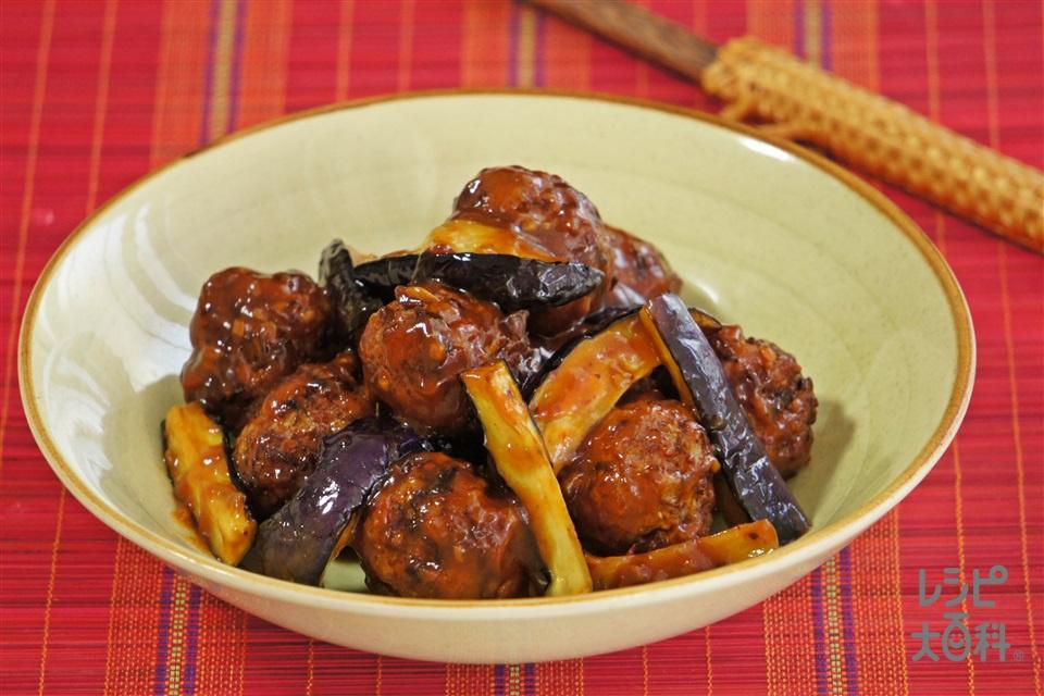 豚団子のごろっと麻婆茄子(豚ひき肉+なすを使ったレシピ)