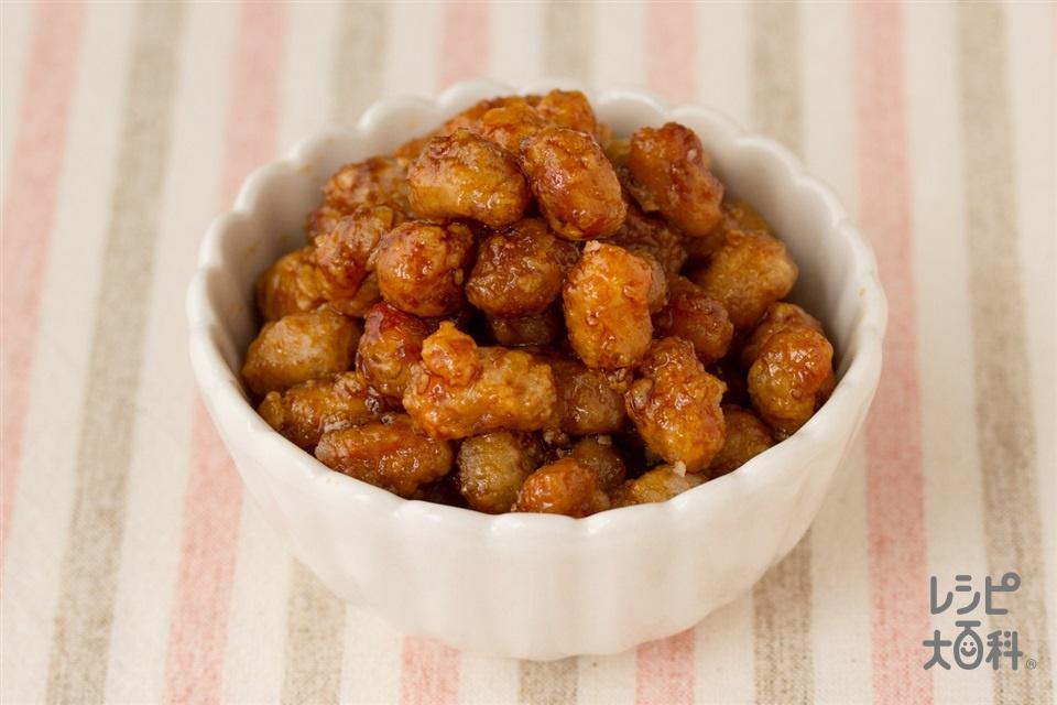 大豆の甘辛煮和え(大豆の水煮+砂糖を使ったレシピ)