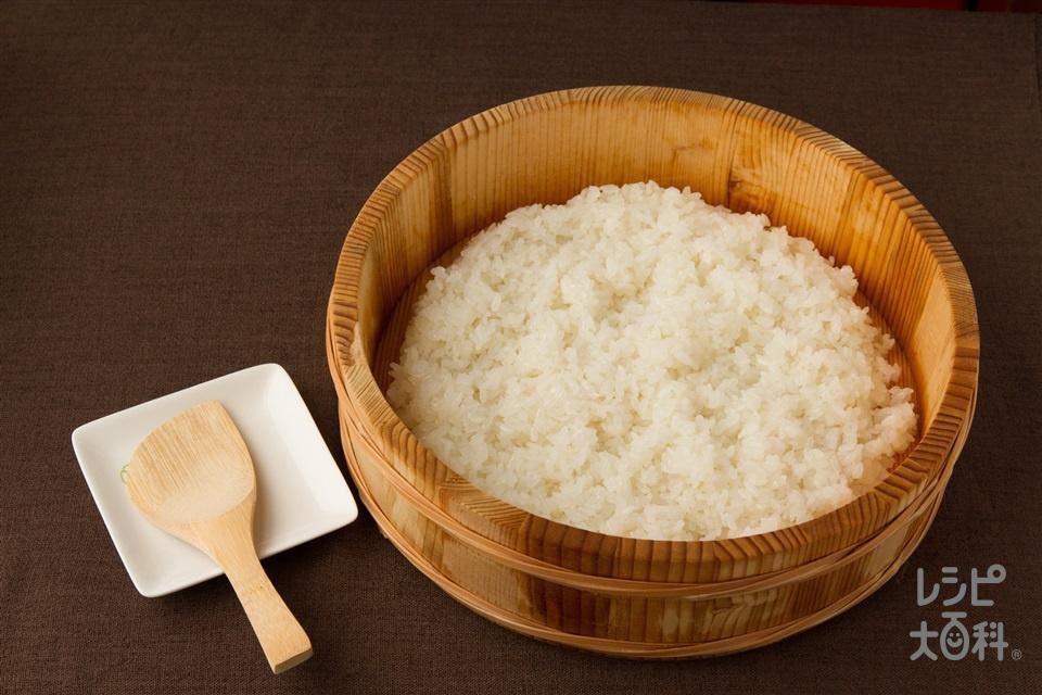 酢飯(炊きたてご飯+砂糖を使ったレシピ)