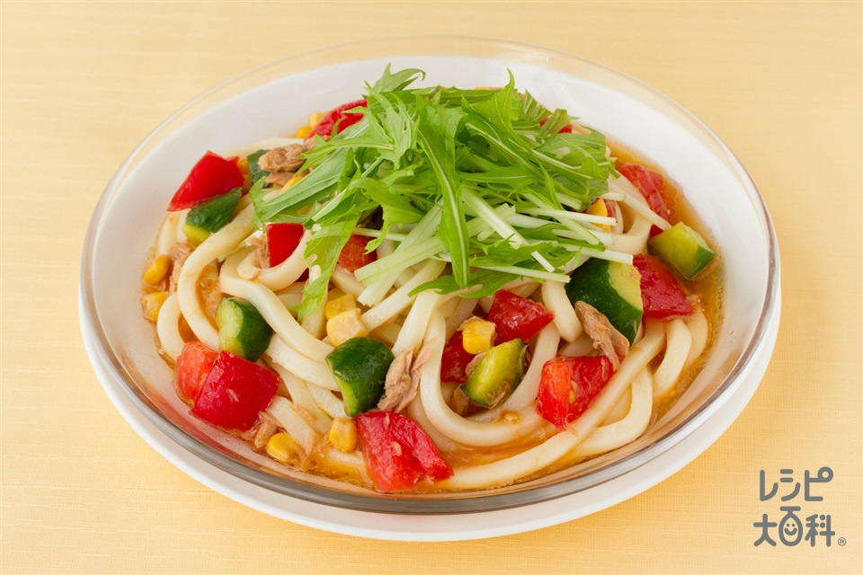 トマトサラダうどん(うどん+トマトを使ったレシピ)