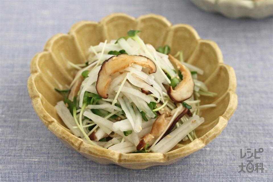 焼きしいたけと大根の中華風サラダ(しいたけ+大根を使ったレシピ)
