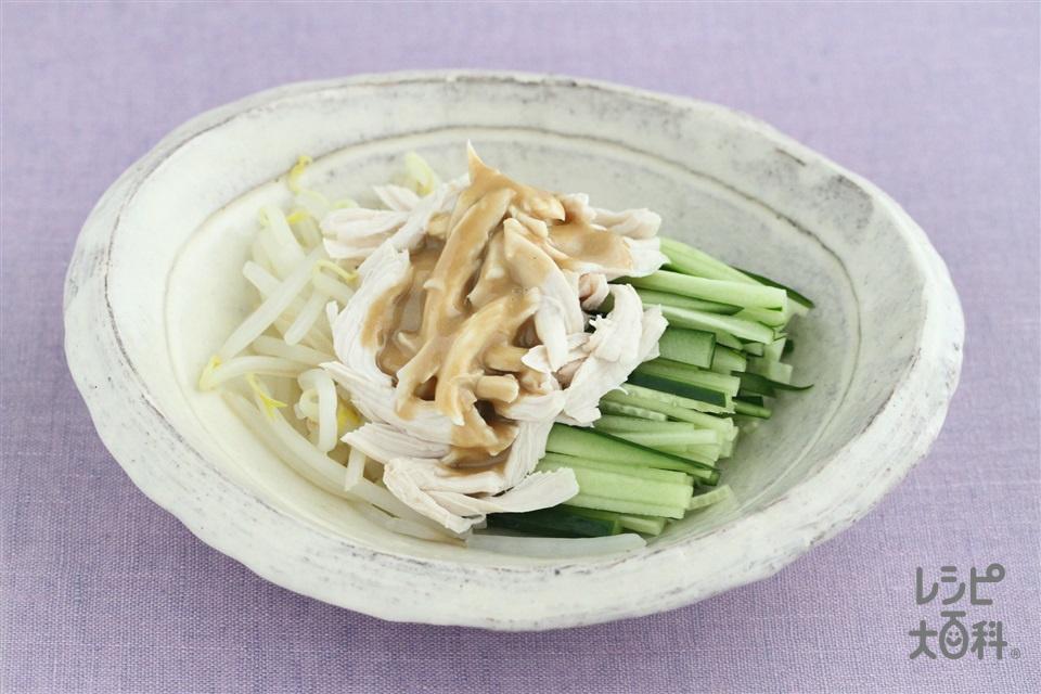 野菜と鶏ささみの中華和え(鶏ささ身+きゅうりを使ったレシピ)