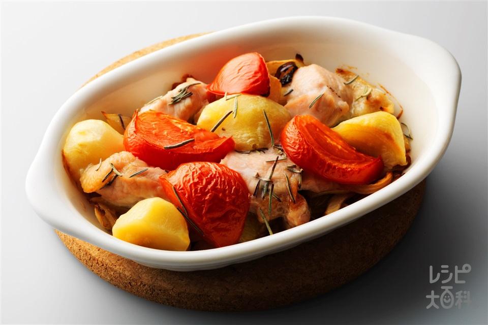 鶏のハーブオーブン焼き(鶏もも肉+A酒を使ったレシピ)