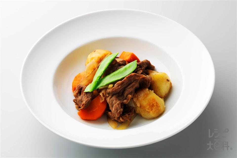 肉じゃが(牛もも赤身肉+じゃがいもを使ったレシピ)